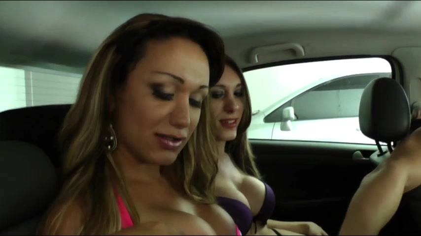Tgirls Patricia Dal Vesco and Sheila pays anal sex for hitch hiking