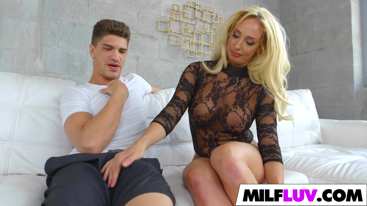 gorgeous blonde milf gets well