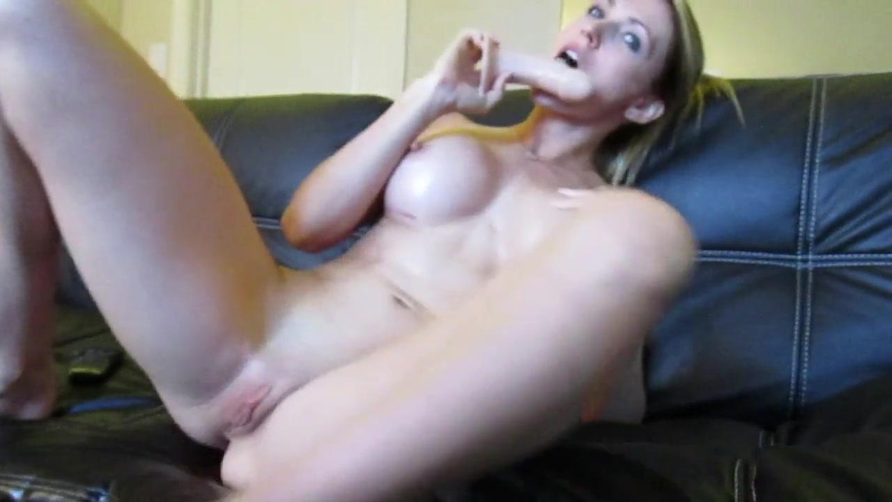 beautiful blonde masturbating with passion on