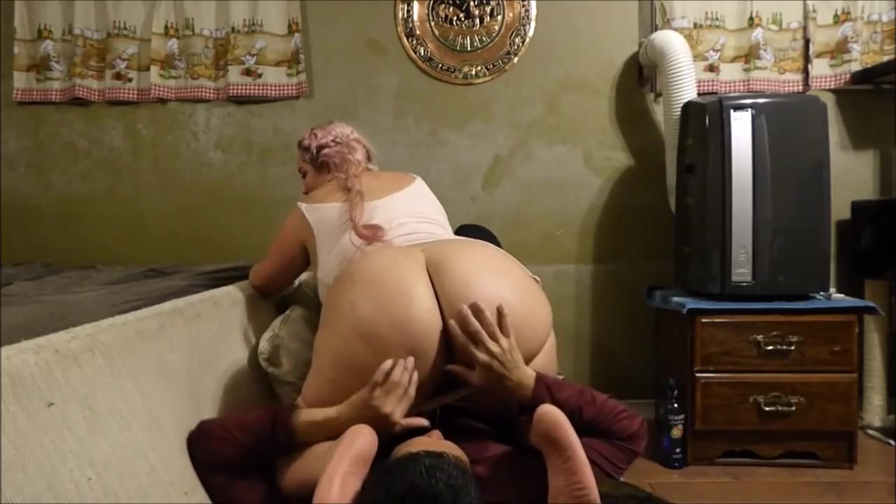 BBW Smothers Him With her BBW Ass and Pussy