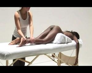 Sensual massage for a ebony girl