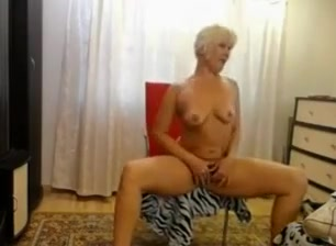 mature blonde teasing on webcam