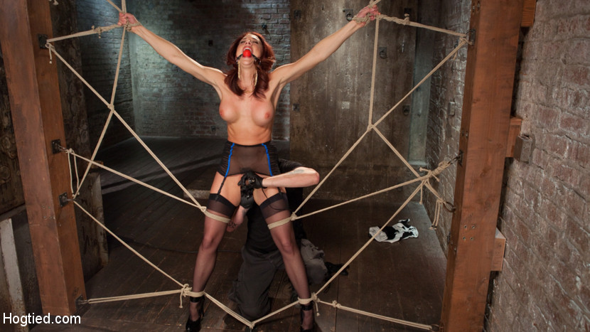 chanel preston & the pope at chanel preston comes back to hogtied - hogtied