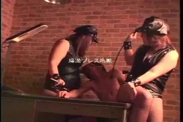 Many japanese BBW femdom and strapon skinny guy