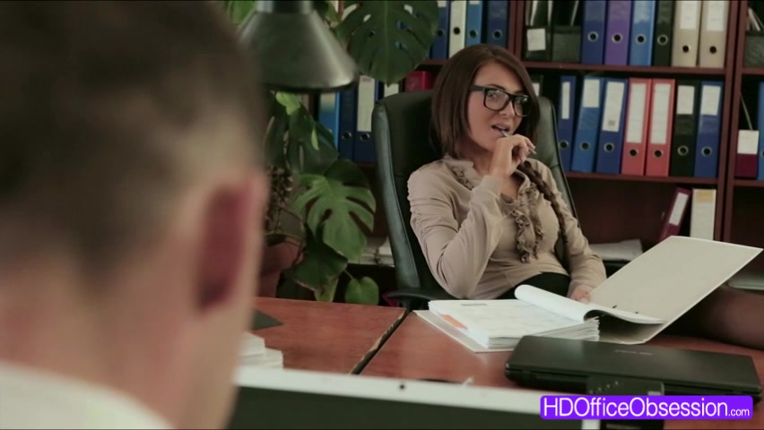 Hot Brunette Alexis Brill fucked deep from behind by his boss