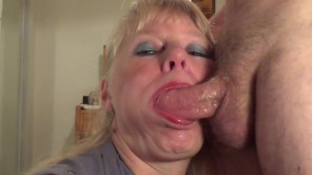 Mature Gets His Throat Fucked