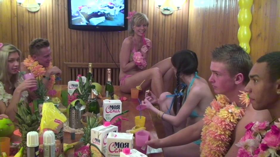 Angel & Cofi & Dulsineya & Tanata & Yuki in horny dudes fucking a few cute college girls