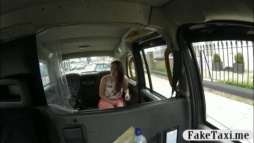 Pierced nipples amateur customer drilled for free taxi fare