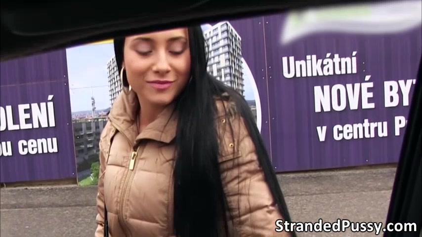 Pretty Anna Rose gets banged doggystyle position by the stranger