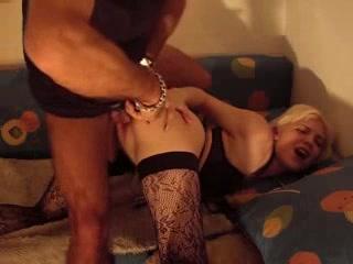 Slamming my lovely amateur blonde in stockings