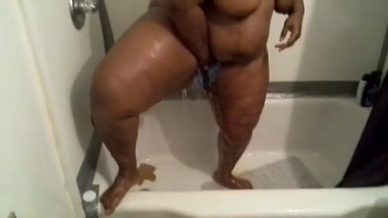 Big butt ebony video of me in the shower