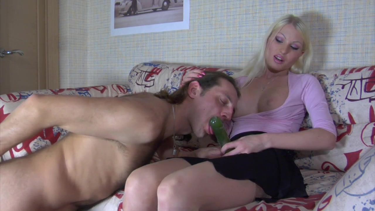 Russian Blonde with Strapon 1
