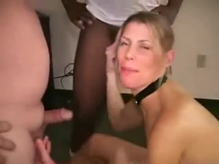 Group bukkake blond takes loads