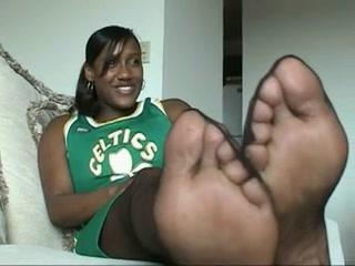 Ebony Pantyhose Feet 13