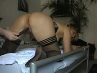 fucking doggystyle with a hot blonde tramp