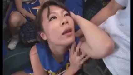 Japanese cheerleaders suck and fuck