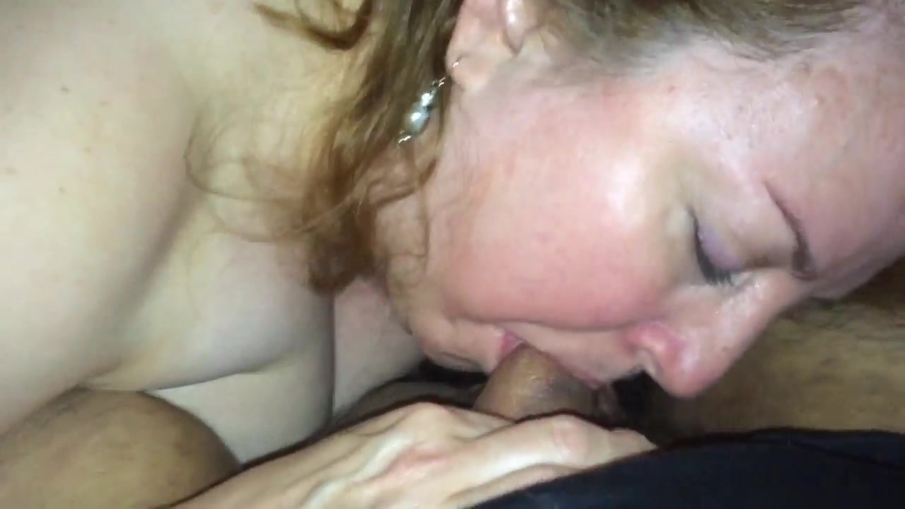 Older woman loves young dripping cock